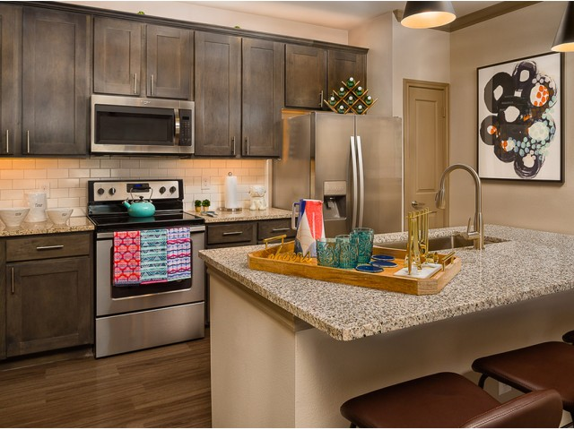 Image of Grey-Mist granite counter-tops in Kitchen and Bathrooms for Boterra Bay