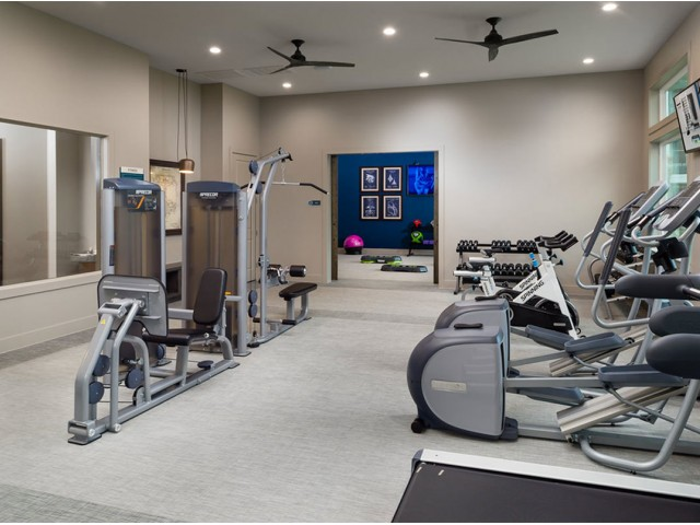 Image of 24-hour fully equipped fitness center with top-of-the-line Precor fitness equipment for Boterra Bay