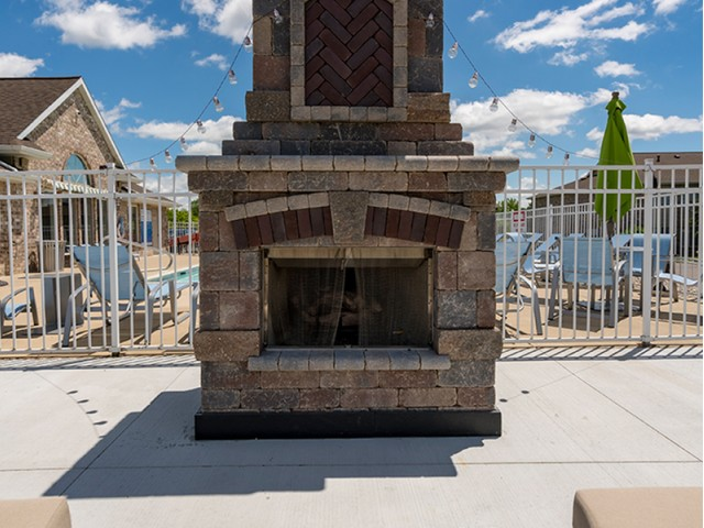 Image of Outdoor Fireplace for Beacon Lake Apartments