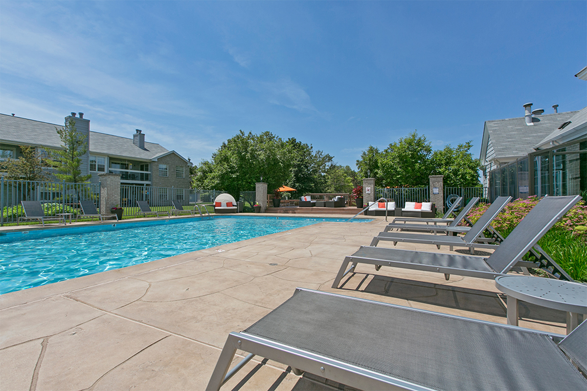 outdoor swimming pool with sundeck