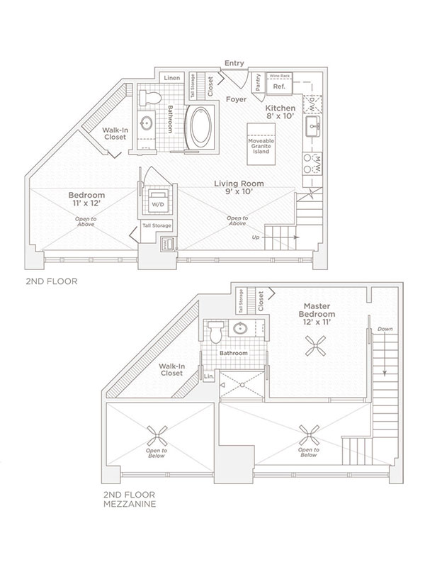 two bedroom two bath C floor plan