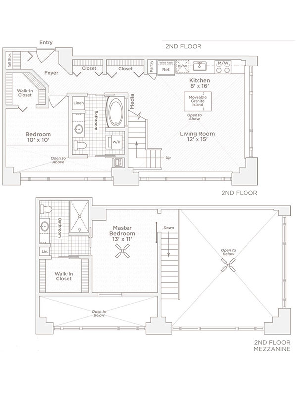 two bedroom two bath C12 floor plan