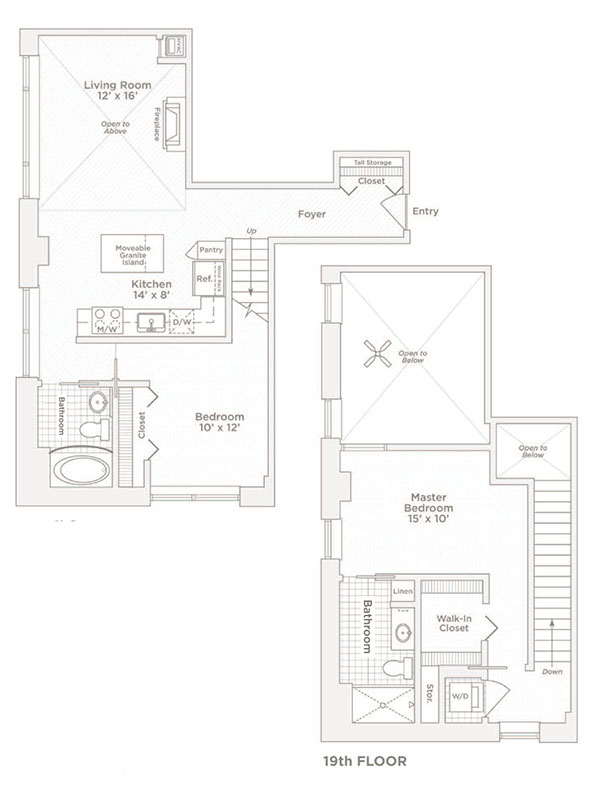 two bedroom two bath C11 floor plan