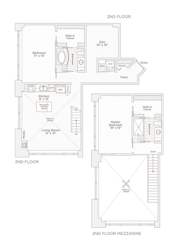 two bedroom two bath C15 floor plan