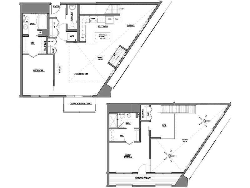 two bed two bath C11 floor plan