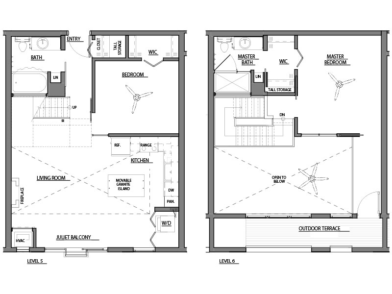 two bed two bath C4 floor plan