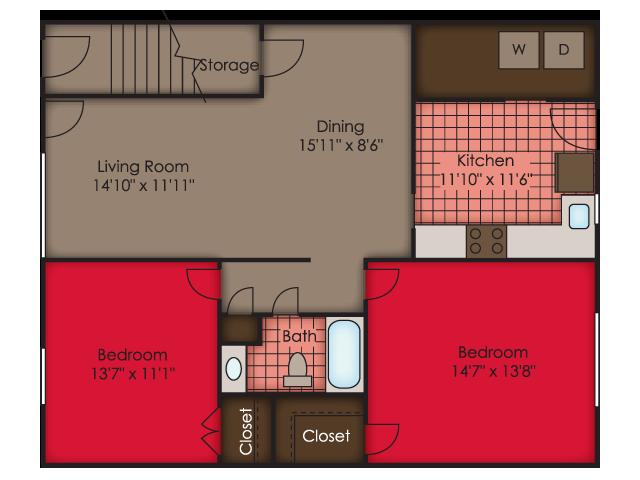 Floor Plan 55+ Apartments Virginia Beach