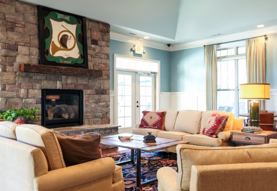 Living Room with Fireplace | Amelia Station in Clayton NC