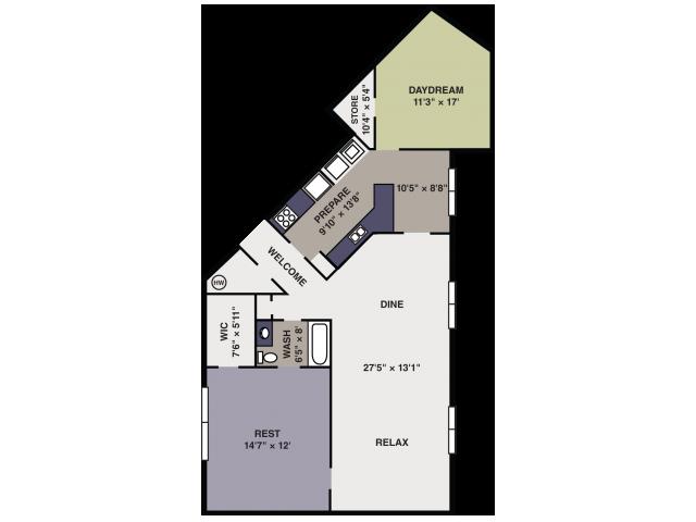 Apartment floorplan in Apex NC