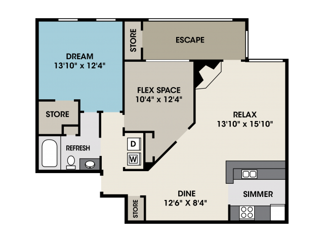 One bedroom apartment in North Raleigh