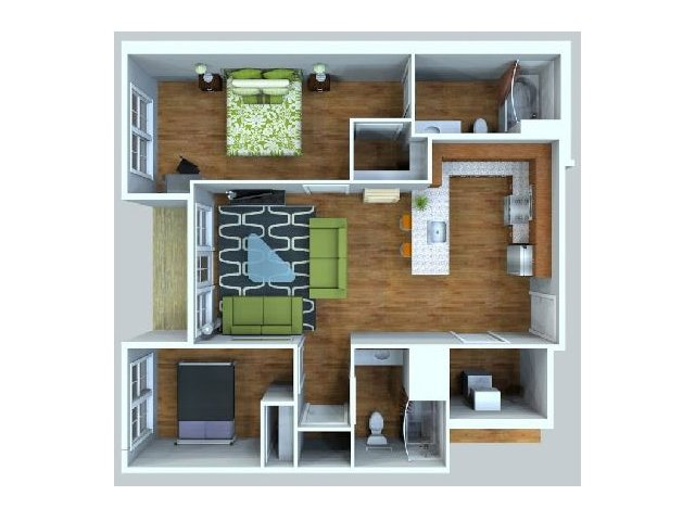 City Block 2 bedroom apartment