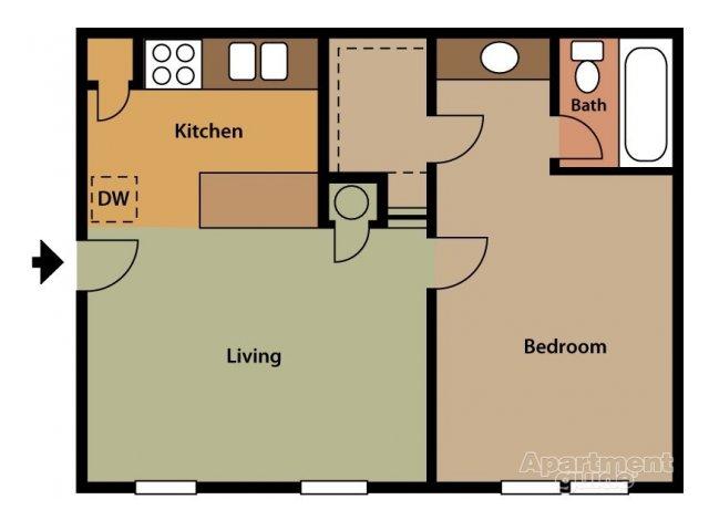 Floorplan Augusta GA Affordable Apartments