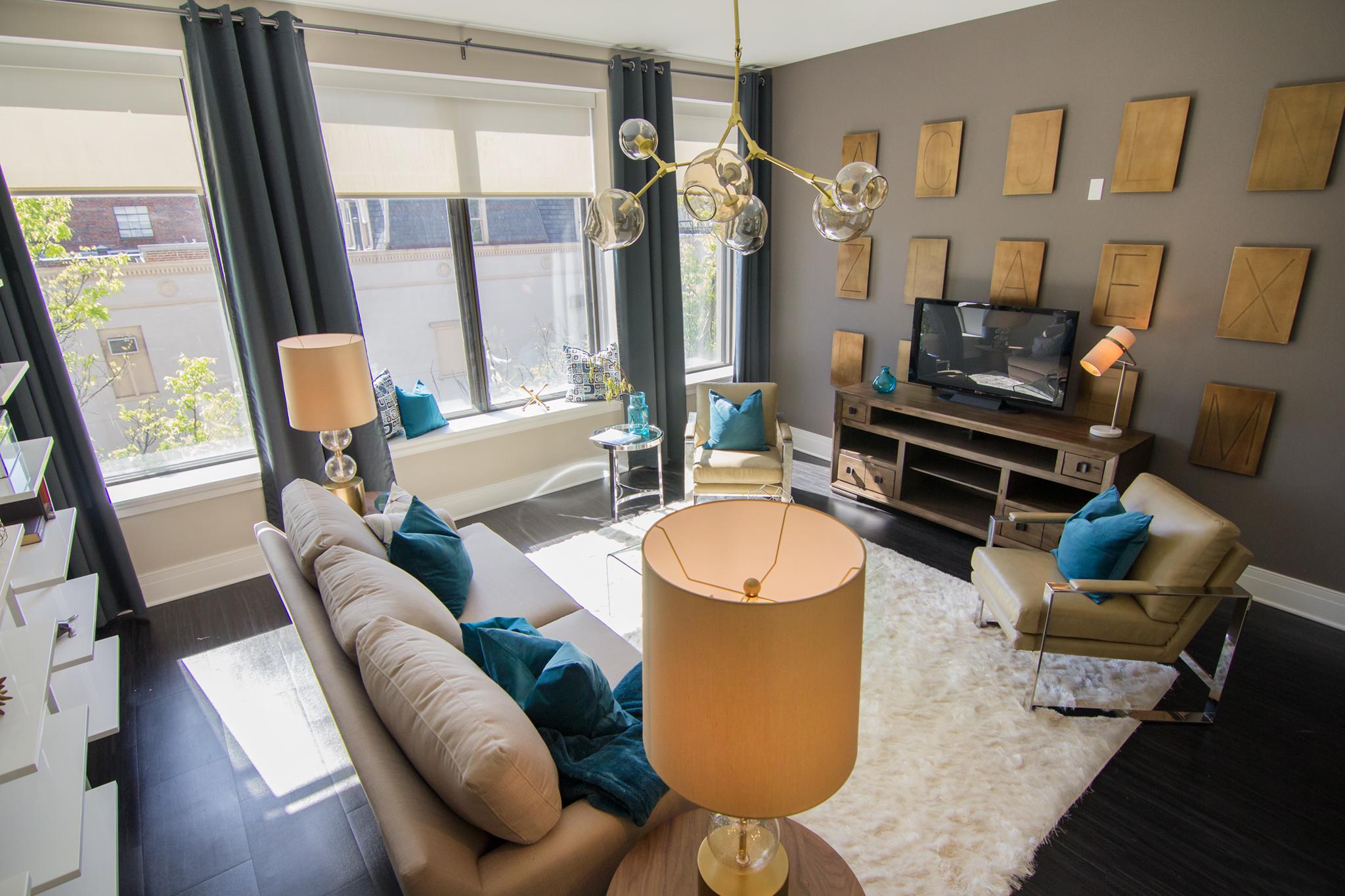 Deco at CNB Apartments Living Room | Downtown Richmond VA Apartments