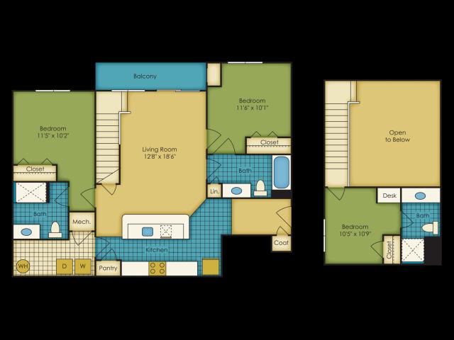 3 bedroom apartments near Virginia Tech