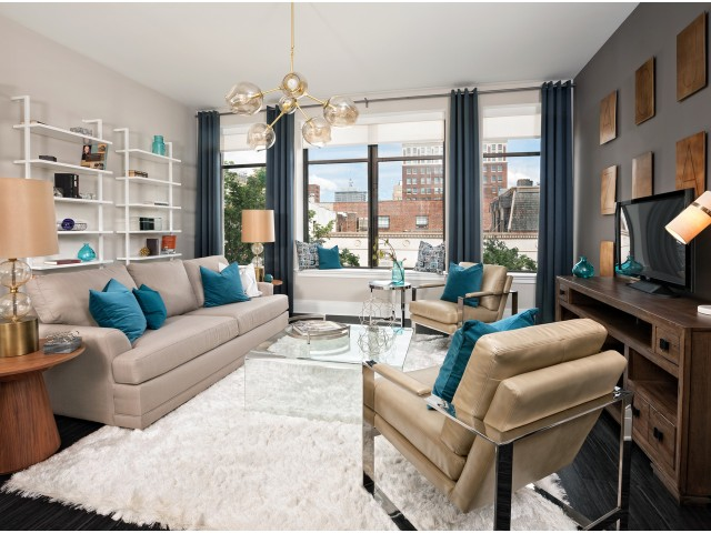 Living Room at luxury Apartments in Downtown Richmond