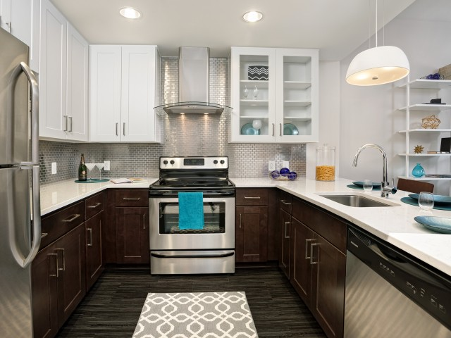 Kitchen |Deco at CNB Apartments | Apartments in Downtown Richmond, VA for Rent