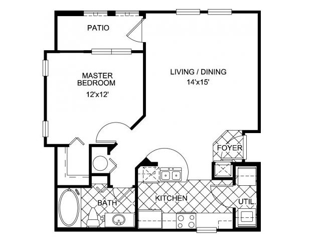 1 Bed / 1 Bath Apartment In Orlando FL