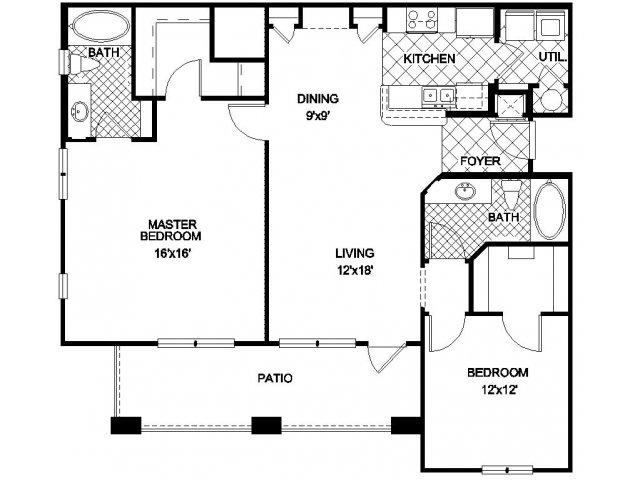 3 Bedroom Apartments In Orlando | 2 Bed 2 Bath Apartment In Orlando Fl Northbridge At Millenial
