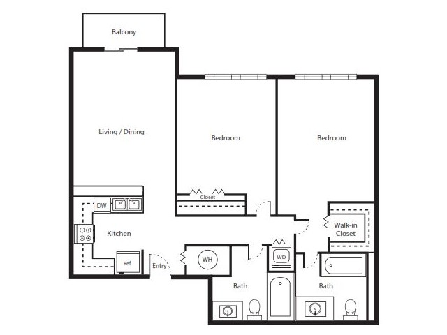 2 Bedroom Floorplan | Soleste West Gables