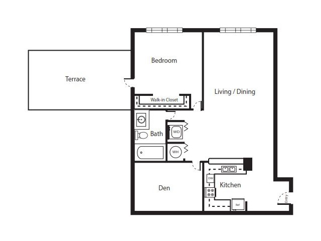 1 Bedroom Floorplan | Soleste West Gables 4