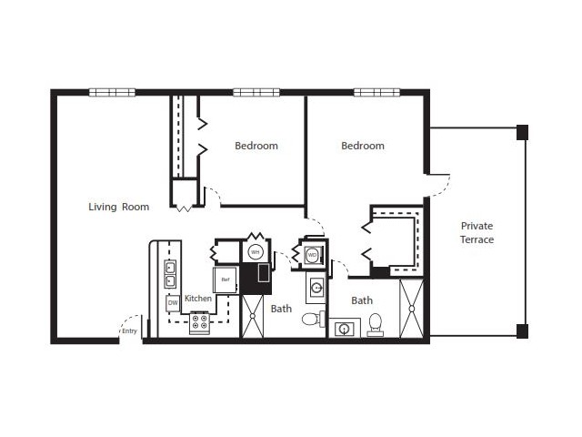 2 Bedroom Floorplan | Soleste West Gables 6