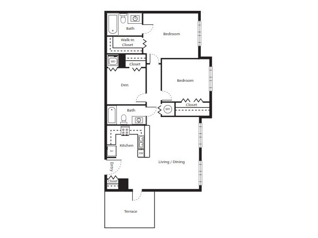 2 Bedroom Floorplan | Soleste West Gables 7