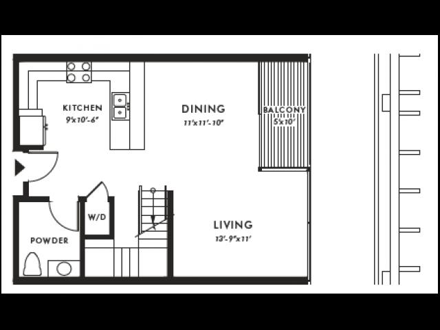 Floor Plan | Edison 45