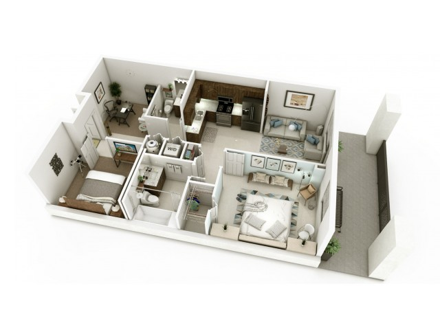 2 Bedroom Floorplan | Soleste West Gables 9