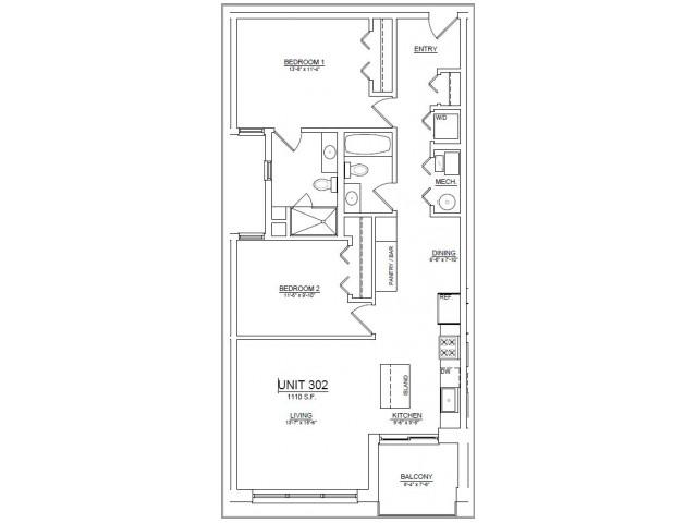 Floor Plan 40   Apartments In Chicago   The Aberdeen West Loop