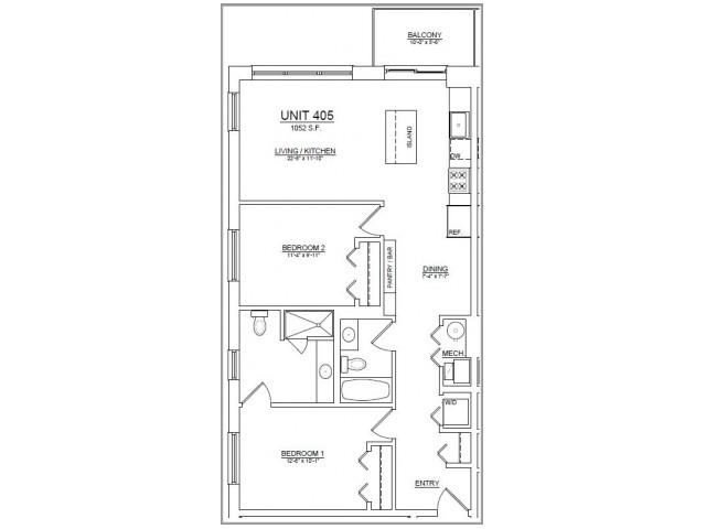 Floor Plan 51   Apartments In Chicago   The Aberdeen West Loop