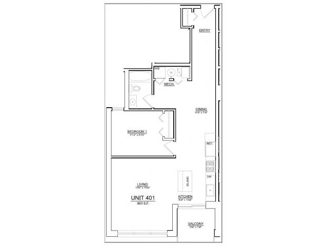 Floor Plan 73   Apartments In Chicago   The Aberdeen West Loop