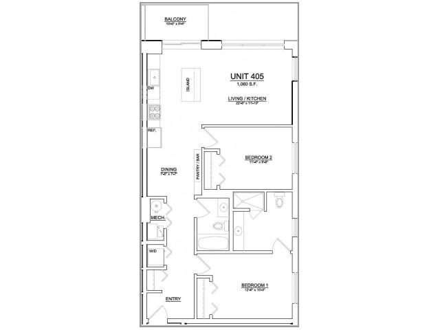 Floor Plan 76   Apartments In Chicago   The Aberdeen West Loop