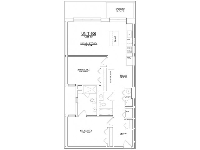 Floor Plan 77 | Apartments In Chicago | The Aberdeen West Loop