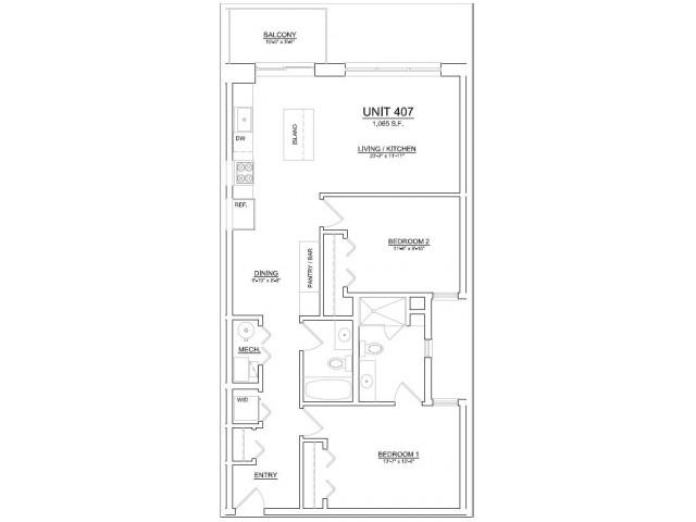 Floor Plan 78   Apartments In Chicago   The Aberdeen West Loop