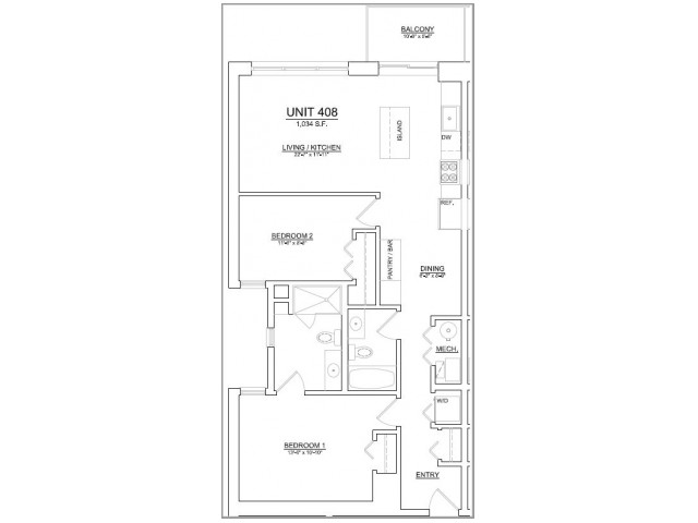 Floor Plan 79 | Apartments In Chicago | The Aberdeen West Loop