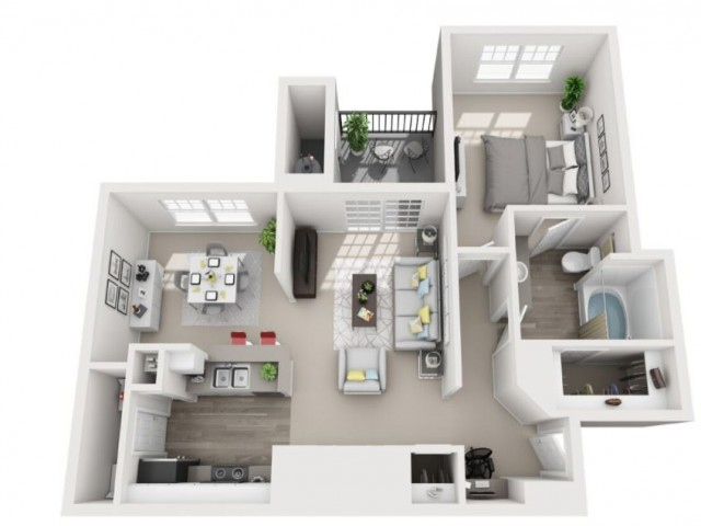 Floor Plan 1 | Luxury Apartments Centennial Colorado | Greenwood Plaza