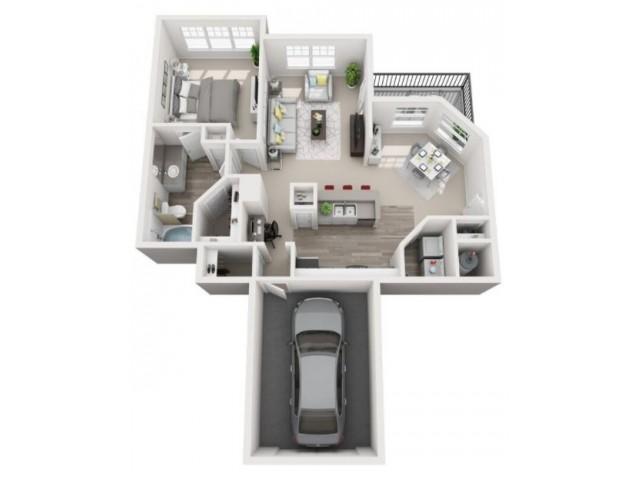 Floor Plan 2 | Centennial Colorado Apartments | Greenwood Plaza