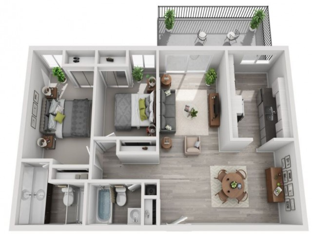 Floor Plan 2 | Candlewood Apartments