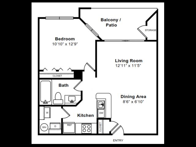 Floor Plan 1 | Luxury Apartments In Arlington VA | The Citizen at Shirlington Village