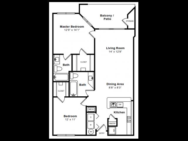 Floor Plan 11 | Apartments Arlington VA | The Citizen at Shirlington Village
