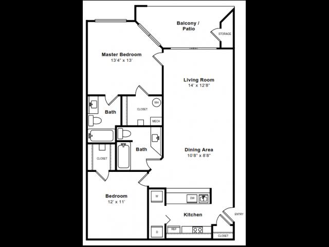 Floor Plan 5 | Apartments Arlington | The Citizen at Shirlington Village