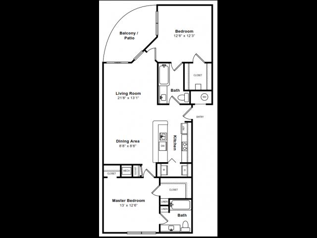 Floor Plan 6 | Luxury Apartments In Arlington VA | The Citizen at Shirlington Village