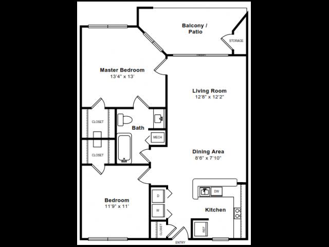 Floor Plan 4 | Arlington VA Apartments | The Citizen at Shirlington Village