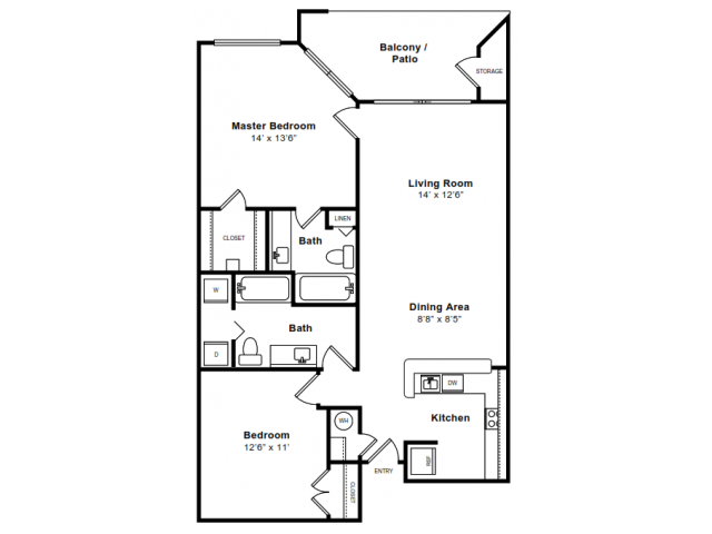 Floor Plan 3 | Apartments Arlington VA | The Citizen at Shirlington Village