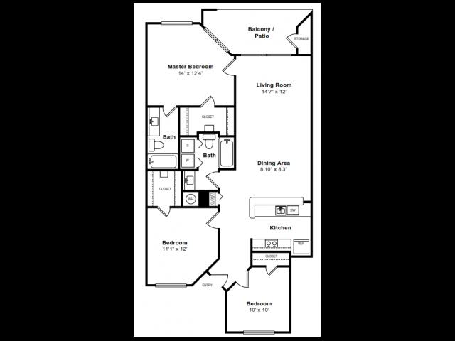 Floor Plan 9 | Arlington VA Apartments | The Citizen at Shirlington Village