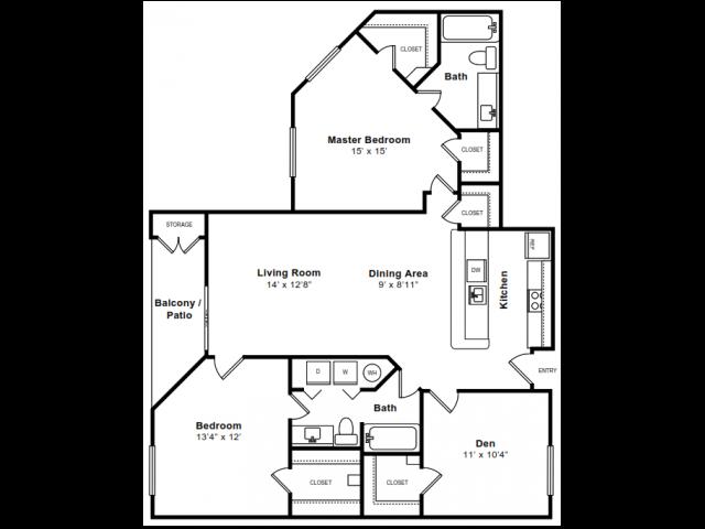 Floor Plan 7 | Arlington Apartments | The Citizen at Shirlington Village