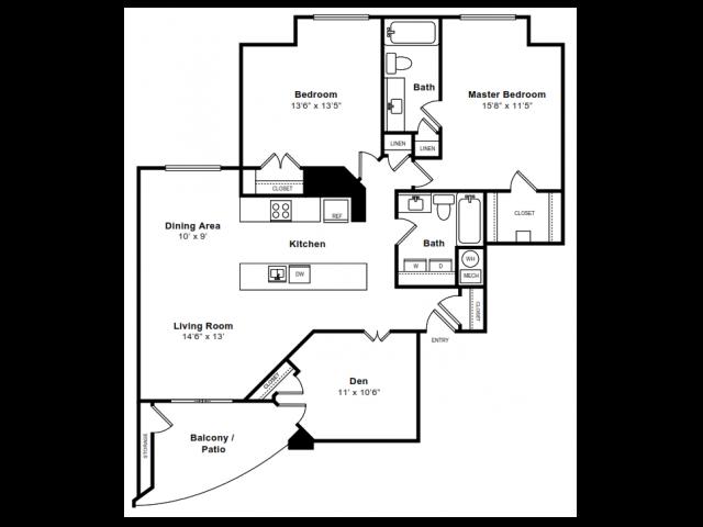 Floor Plan 8 | Apartments Arlington VA | The Citizen at Shirlington Village