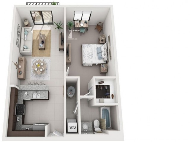 1 Bedroom Floorplan | Soleste West Gables 2