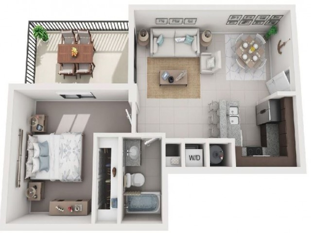 1 Bedroom Floorplan | Soleste West Gables 3
