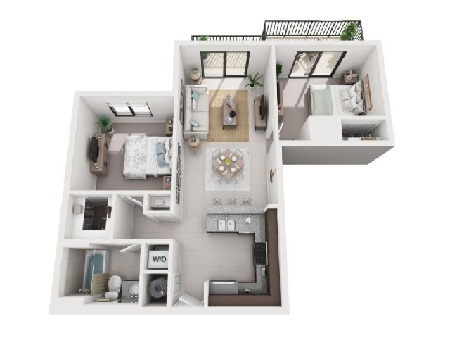 2 Bedroom Floorplan | Soleste West Gables 4